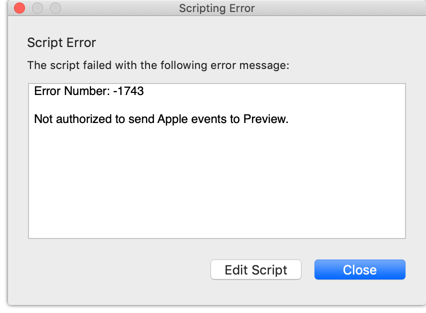Scripting error received when attempting to run a script from FastScripts